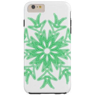 Capa Tough Para iPhone 6 Plus ~ verde da palma da cerceta