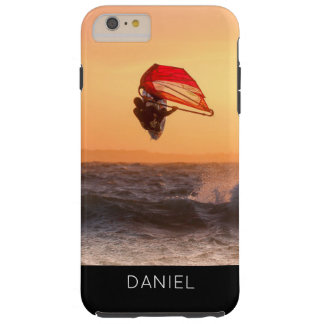 Capa Tough Para iPhone 6 Plus Windsurfing no costume personalizado surfista do