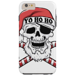 Capa Tough Para iPhone 6 Plus Yo ho ho - papai noel do pirata - Papai Noel