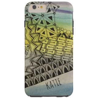 Capa Tough Para iPhone 6 Plus ZIA Tangled personalizado Zendoodle com aguarela