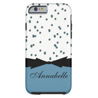 CAPA TOUGH PARA iPhone 6 PONTOS DO AZUL DO CHIQUE IPHONE 6 CASE_GIRLY
