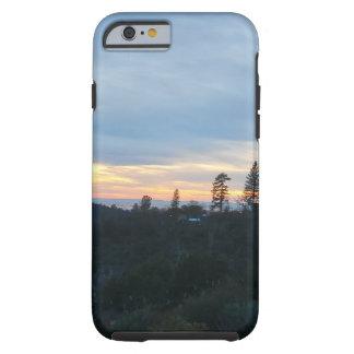 Capa Tough Para iPhone 6 Por do sol da montanha