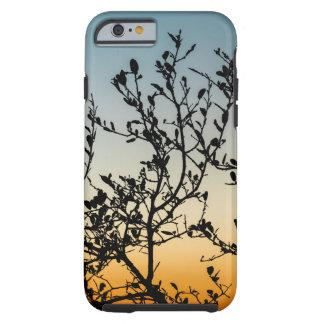 Capa Tough Para iPhone 6 Por do sol de Austin no inverno