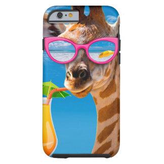 Capa Tough Para iPhone 6 Praia do girafa - girafa engraçado