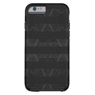 Capa Tough Para iPhone 6 Preto Embellished Argyle listrado