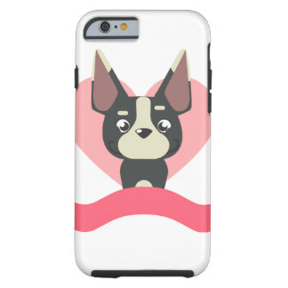 Capa Tough Para iPhone 6 Pug Love