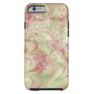 Capa Tough Para iPhone 6 Redemoinho verde e cor-de-rosa do Fractal