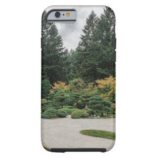 Capa Tough Para iPhone 6 Relaxe em um jardim japonês