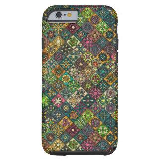 Capa Tough Para iPhone 6 Retalhos do vintage com elementos florais da