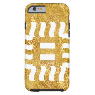 Capa Tough Para iPhone 6 Reverso do número 8 em goldtone