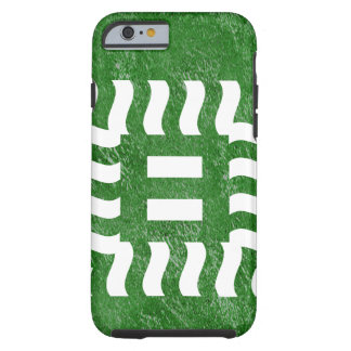 Capa Tough Para iPhone 6 Reverso do número 8 no verde