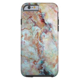 Capa Tough Para iPhone 6 Revestimento cor-de-rosa da pedra do mármore do