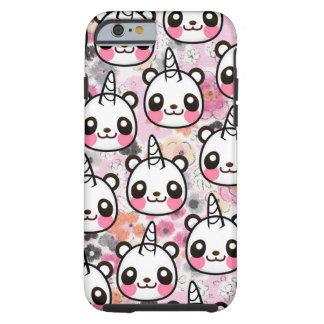 Capa Tough Para iPhone 6 Rosa bonito Lo animal floral do unicórnio da panda