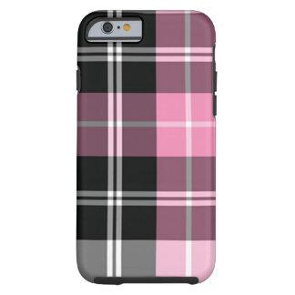 Capa Tough Para iPhone 6 Rosa da xadrez