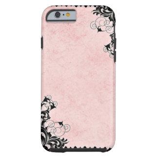 Capa Tough Para iPhone 6 Rosa do vintage