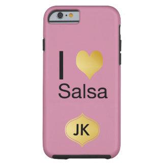 Capa Tough Para iPhone 6 Salsa Playfully elegante do coração de I