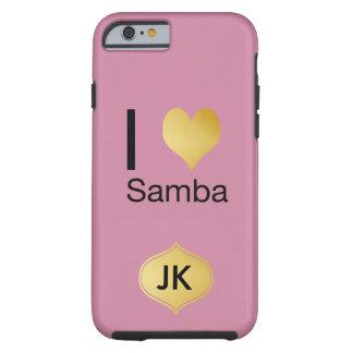 Capa Tough Para iPhone 6 Samba Playfully elegante do coração de I