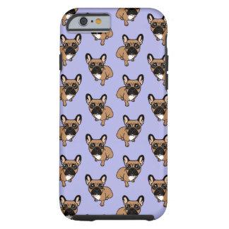 Capa Tough Para iPhone 6 Seja agradável à jovem corça preta bonito Frenchie