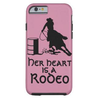 Capa Tough Para iPhone 6 Seu coração é um tambor do rodeio que compete a