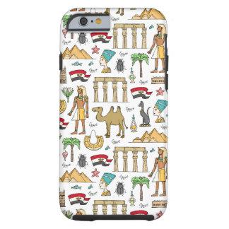 Capa Tough Para iPhone 6 Símbolos da cor do teste padrão de Egipto