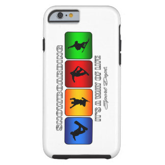 Capa Tough Para iPhone 6 Snowboarding legal é um modo de vida