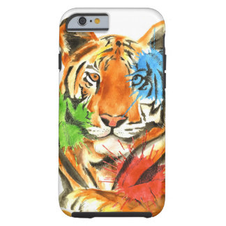 Capa Tough Para iPhone 6 Splatter do tigre