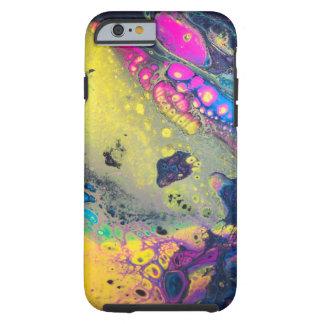"""Capa Tough Para iPhone 6 """"Sujos acrílicos coloridos selvagens derramam """""""
