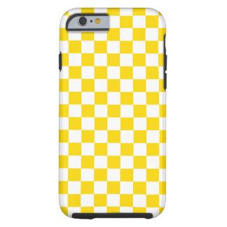 Capa Tough Para iPhone 6 Tabuleiro de damas amarelo