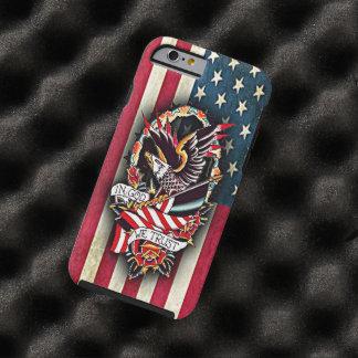 Capa Tough Para iPhone 6 Tatuagem patriótico da águia americana da bandeira