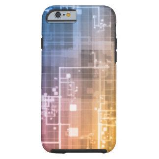 Capa Tough Para iPhone 6 Tecnologia futurista como uma arte da próxima