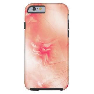 Capa Tough Para iPhone 6 Teste padrão alaranjado floral bonito