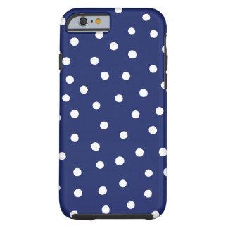 Capa Tough Para iPhone 6 Teste padrão de pontos dos confetes dos azuis
