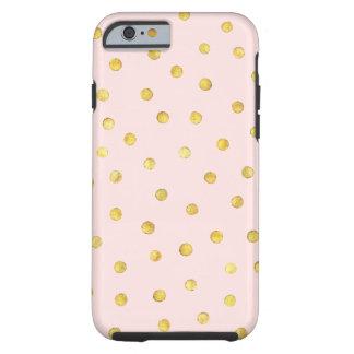 Capa Tough Para iPhone 6 Teste padrão de pontos elegante dos confetes da