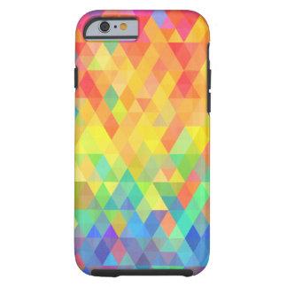 Capa Tough Para iPhone 6 Teste padrão do diamante de prisma do arco-íris