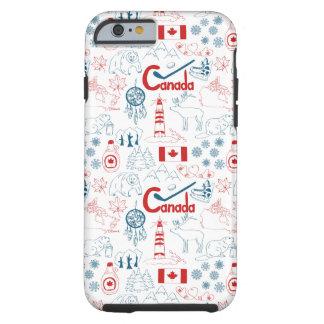 Capa Tough Para iPhone 6 Teste padrão dos símbolos de Canadá |