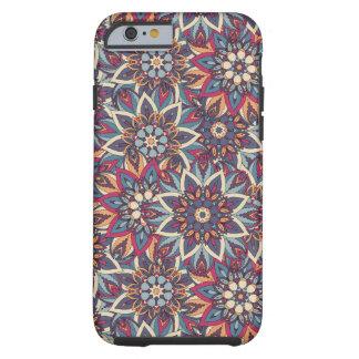 Capa Tough Para iPhone 6 Teste padrão floral étnico abstrato colorido da