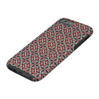 Capa Tough Para iPhone 6 Teste padrão sem emenda retro geométrico abstrato