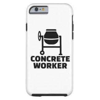 Capa Tough Para iPhone 6 Trabalhador concreto