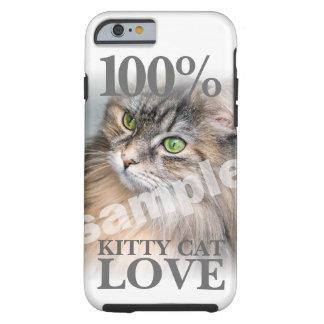 Capa Tough Para iPhone 6 Transfira arquivos pela rede seu amor 100% do gato