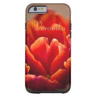 Capa Tough Para iPhone 6 Tulipa vermelha