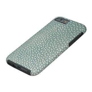 Capa Tough Para iPhone 6 Verde de Seafoam do Aqua de Shagreen