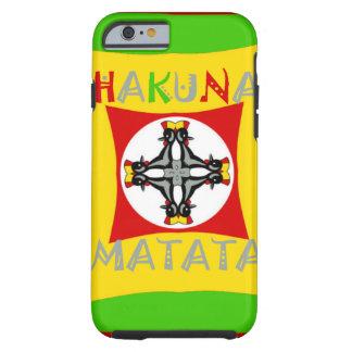 Capa Tough Para iPhone 6 Verde dourado vermelho da cor de Hakuna Matata