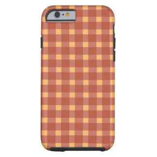 Capa Tough Para iPhone 6 Vermelho da xadrez