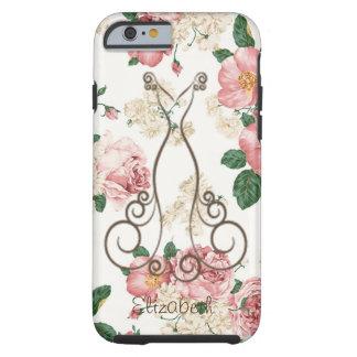 Capa Tough Para iPhone 6 Vestido elegante adorável, floral