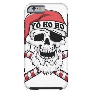 Capa Tough Para iPhone 6 Yo ho ho - papai noel do pirata - Papai Noel