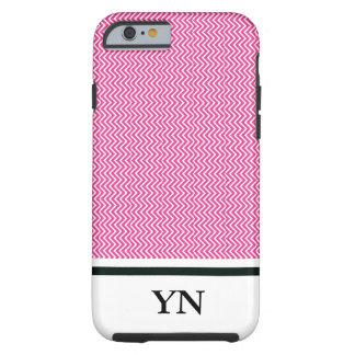 Capa Tough Para iPhone 6 Ziguezague cor-de-rosa