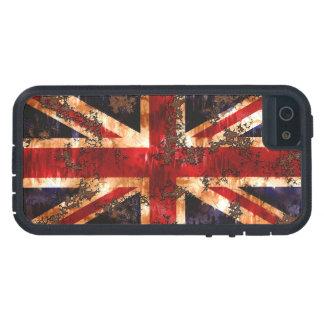 Capa Tough Xtreme Para iPhone 5 Bandeira patriótica oxidada de Reino Unido