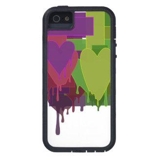 Capa Tough Xtreme Para iPhone 5 Blocos da cor que derretem corações