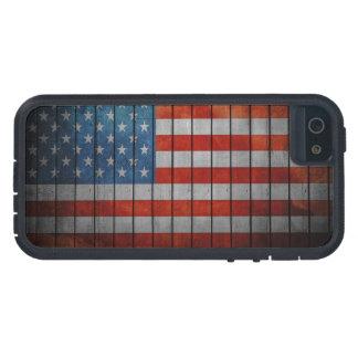 Capa Tough Xtreme Para iPhone 5 Cerca pintada da bandeira americana