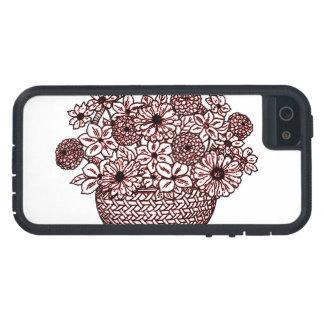 Capa Tough Xtreme Para iPhone 5 Cesta das flores